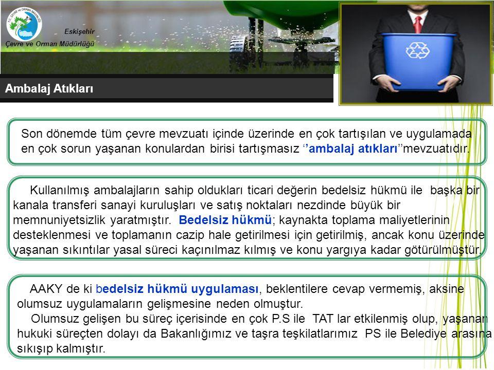 Ambalaj Atıkları Eskişehir Çevre ve Orman Müdürlüğü recycle Son dönemde tüm çevre mevzuatı içinde üzerinde en çok tartışılan ve uygulamada en çok soru