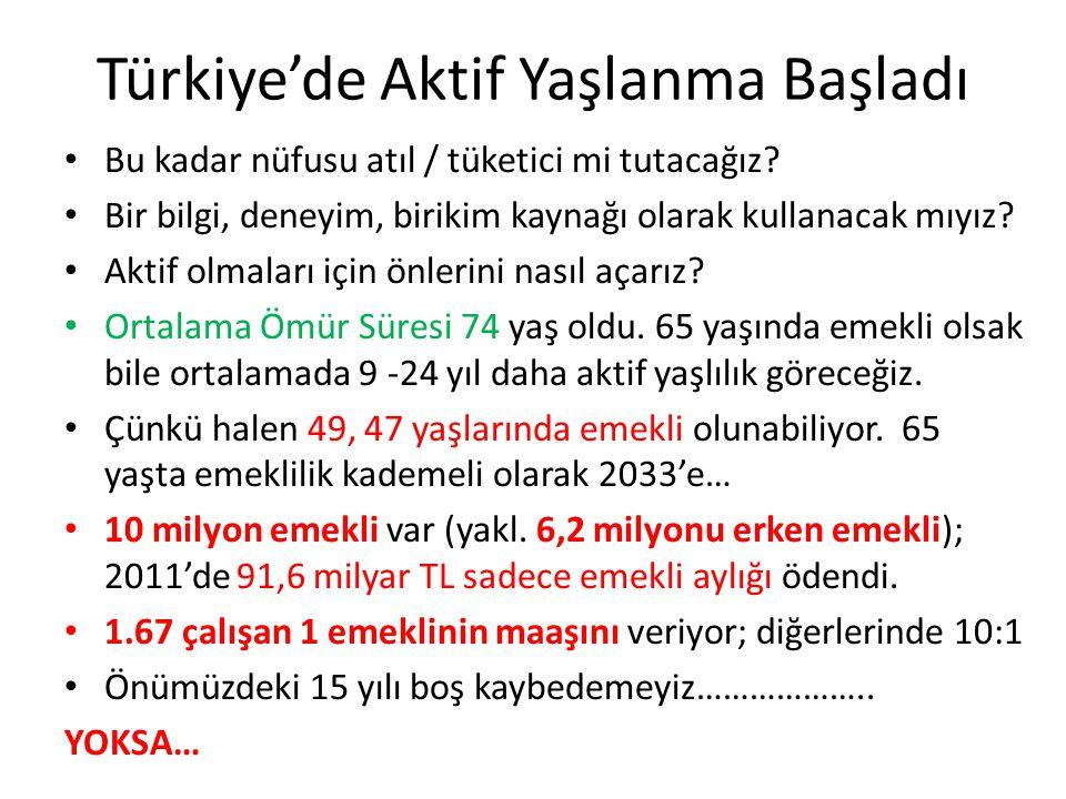 Türkiye'de Aktif Yaşlanma Başladı • Bu kadar nüfusu atıl / tüketici mi tutacağız.