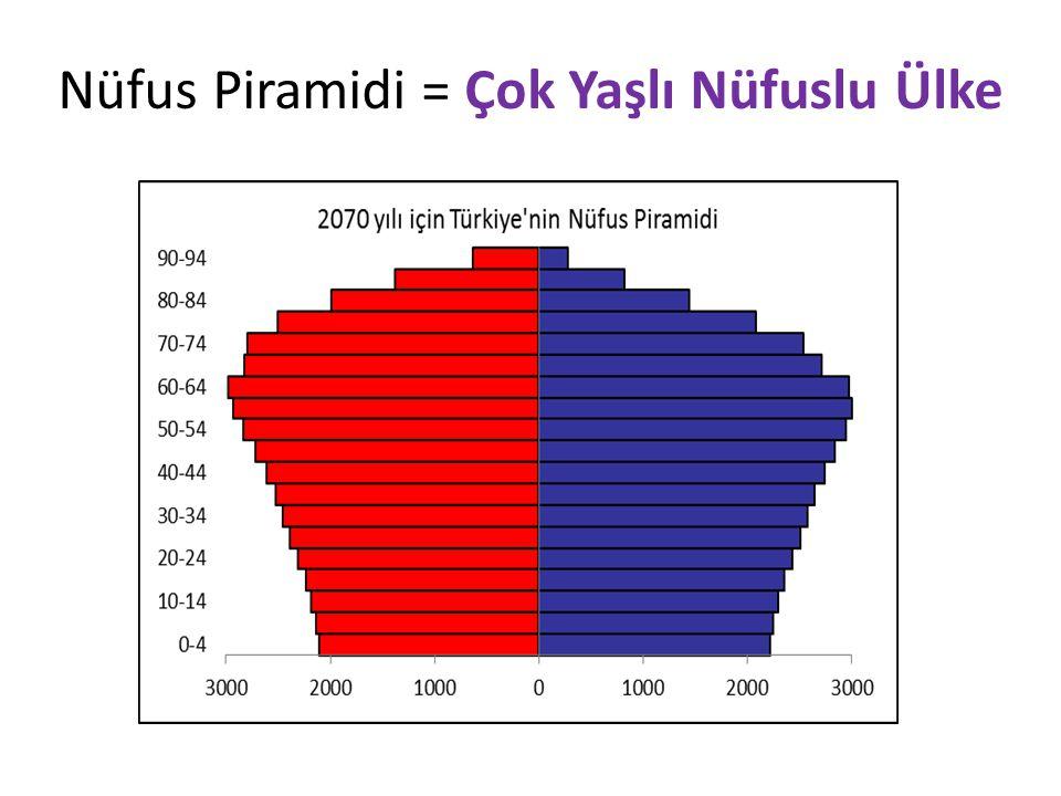 Nüfus Piramidi = Çok Yaşlı Nüfuslu Ülke