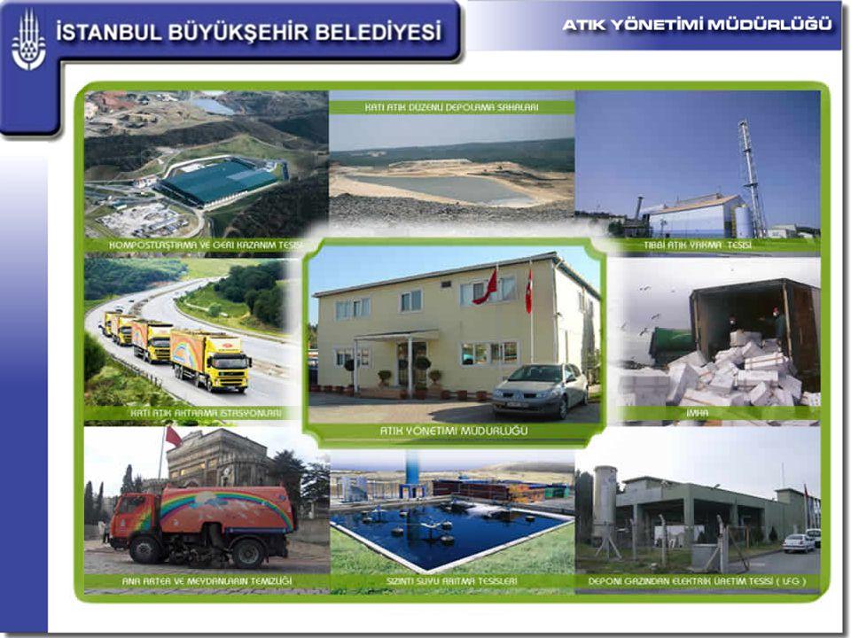FAALİYETLERİMİZ  İstanbul'un Ümraniye (Hekimbaşı), Tuzla (Aydınlı), Kadıköy (K.bakkalköy), Şişli (Baruthane), Bahçelievler (Yenibosna), Küçükçekmece (Halkalı) ve Silivri ilçelerindeki Katı Atık Transfer İstasyonlarının işletilmesi.