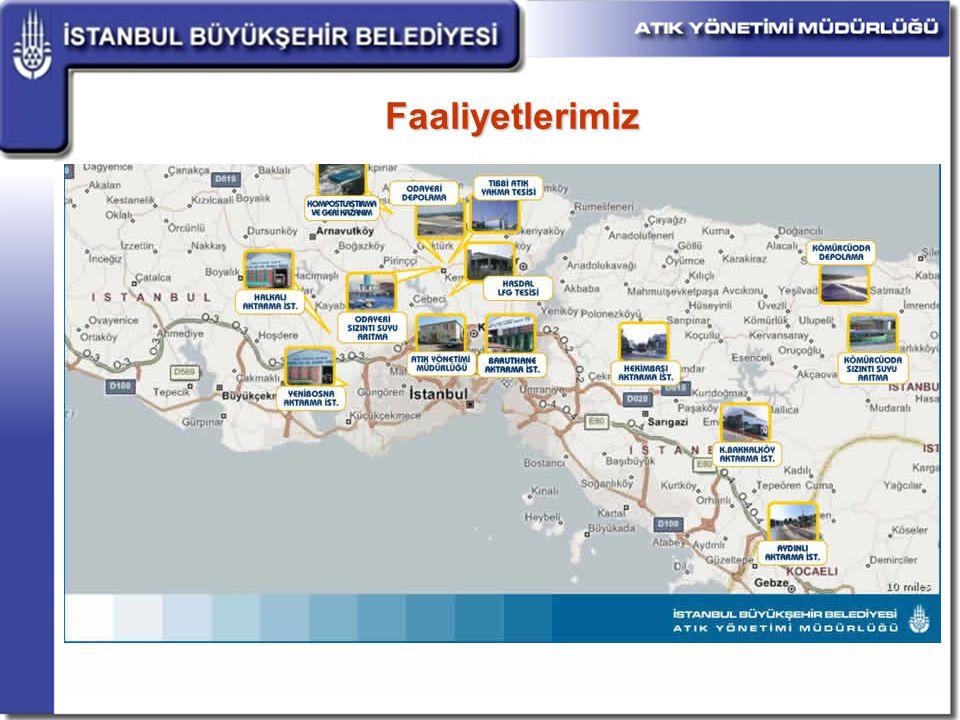 İstanbul un yaşanılabilir bir şehir olmasında çevre ve temizlik yatırımlarının rolü oldukça büyüktür.