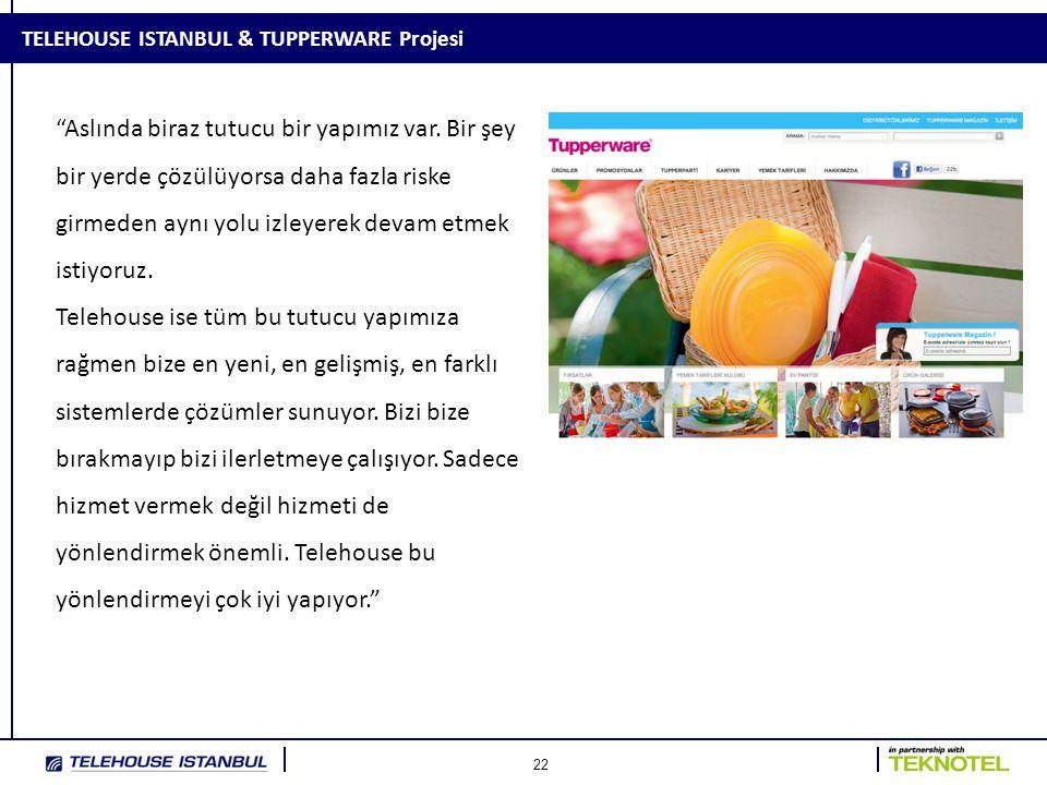 22 TELEHOUSE ISTANBUL & TUPPERWARE Projesi Aslında biraz tutucu bir yapımız var.