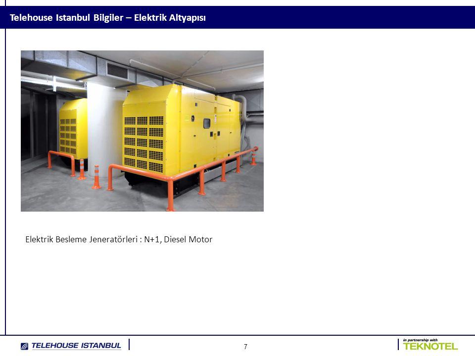 7 Telehouse Istanbul Bilgiler – Elektrik Altyapısı Elektrik Besleme Jeneratörleri : N+1, Diesel Motor
