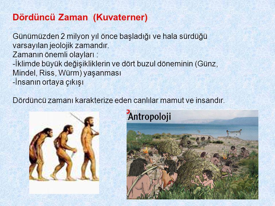 Dördüncü Zaman (Kuvaterner) Günümüzden 2 milyon yıl önce başladığı ve hala sürdüğü varsayılan jeolojik zamandır.
