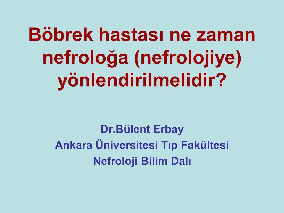 Serum Kreatinin Düzeylerine göre Mikroalbuminüri Türk Hipertansiyon ve Böbrek Hastalıkları Derneği