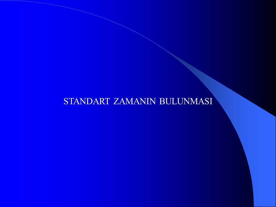 STANDART ZAMANIN BULUNMASI