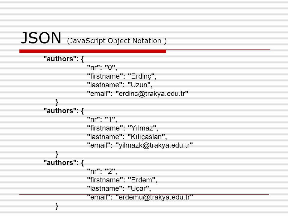 JSON (JavaScript Object Notation )