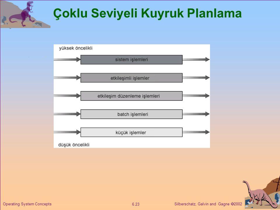 Silberschatz, Galvin and Gagne  2002 6.23 Operating System Concepts Çoklu Seviyeli Kuyruk Planlama