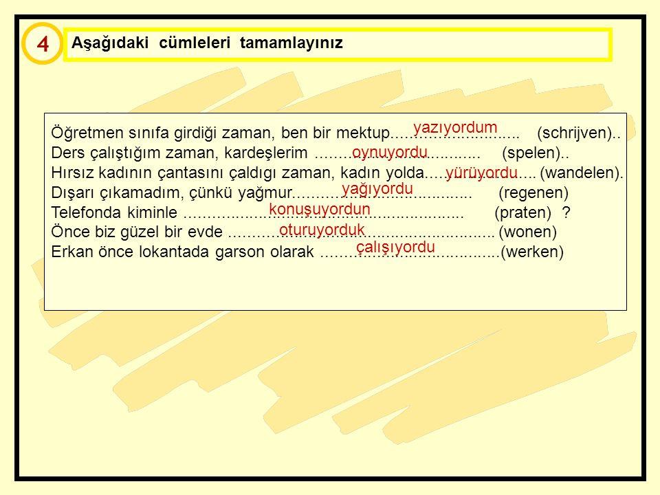 3 Aşağıdaki kelimelerle anlamlı cümleler yapınız Biz / eskiden / ama / oturmak / taşınmak / İstanbul'da Sınavı / yapmak / öğrenciler / öğretmen / gaze