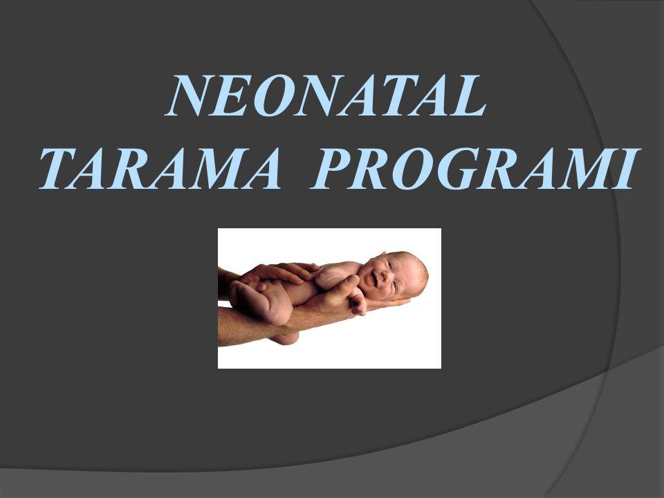 NTP Fenilketonüri Tarama Programı Konjenital Hipotiroidi Tarama Programı
