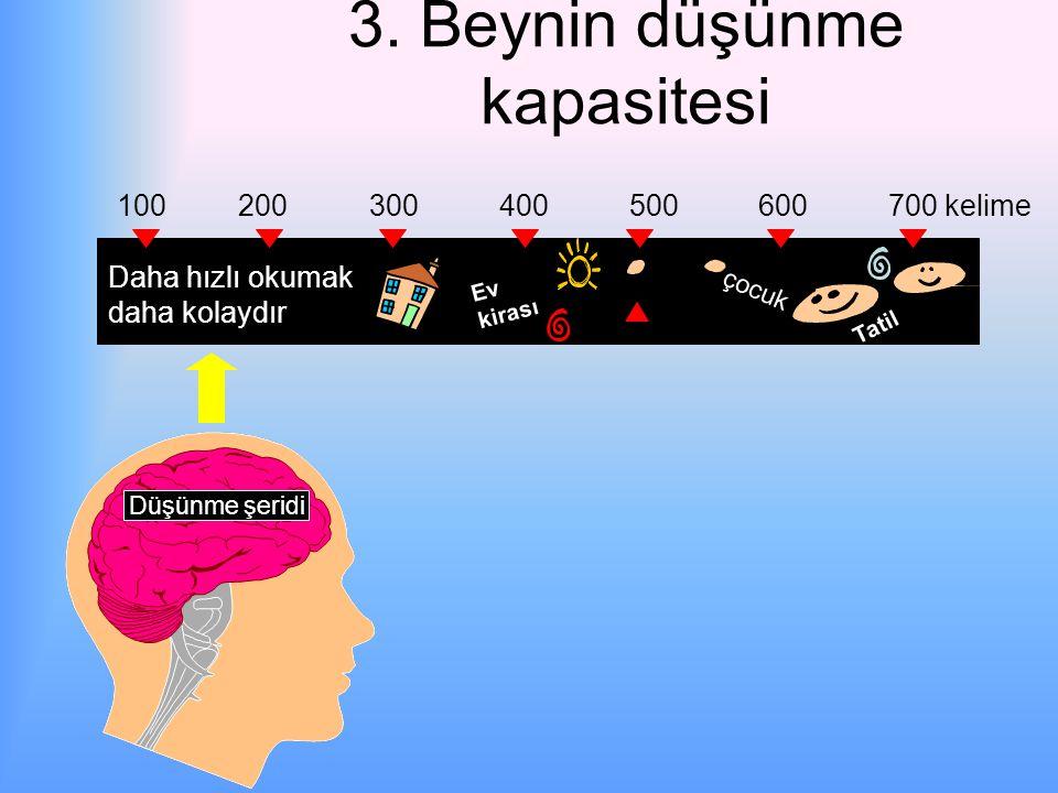 2. Geri sıçrama Geri dönüşler hızımızı % 35 azaltır. Daha hızlı okumak daha kolaydır.
