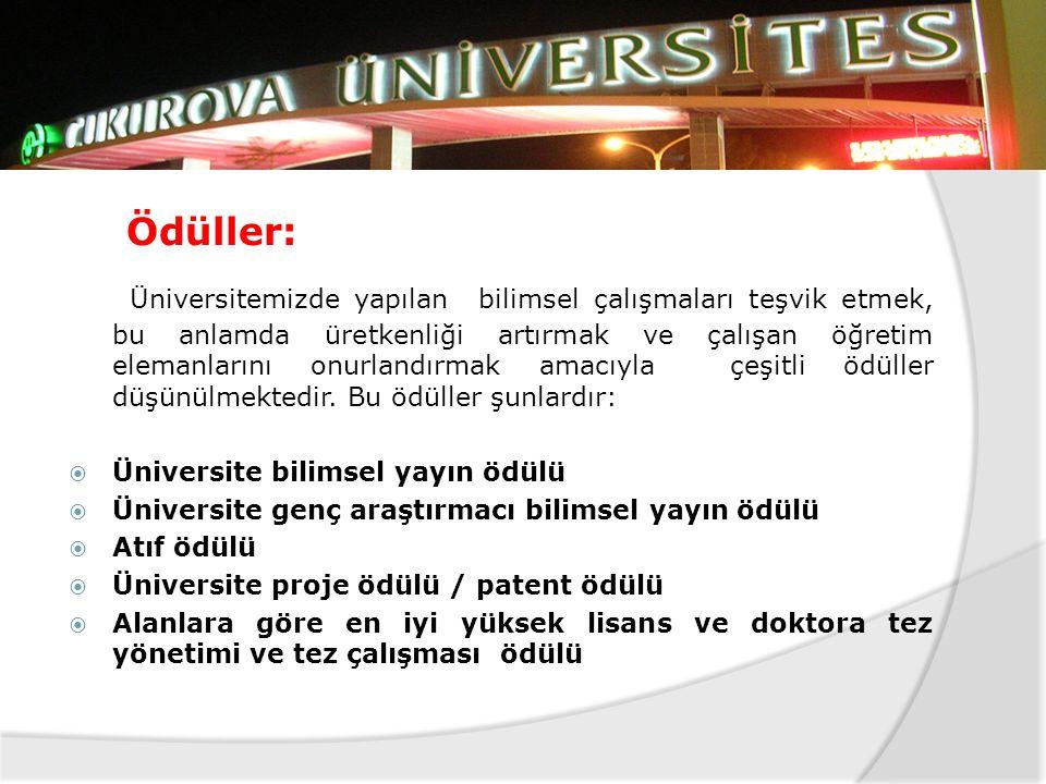 Bilimsel Etkinlikler:  Üniversitemiz birimleri tarafından düzenlenen veya işbirliği ile gerçekleştirilen her türlü bilimsel etkinlikte, üniversitenin