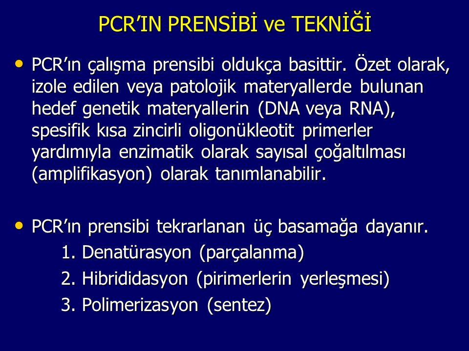 PCR'IN PRENSİBİ ve TEKNİĞİ • PCR'ın çalışma prensibi oldukça basittir. Özet olarak, izole edilen veya patolojik materyallerde bulunan hedef genetik ma