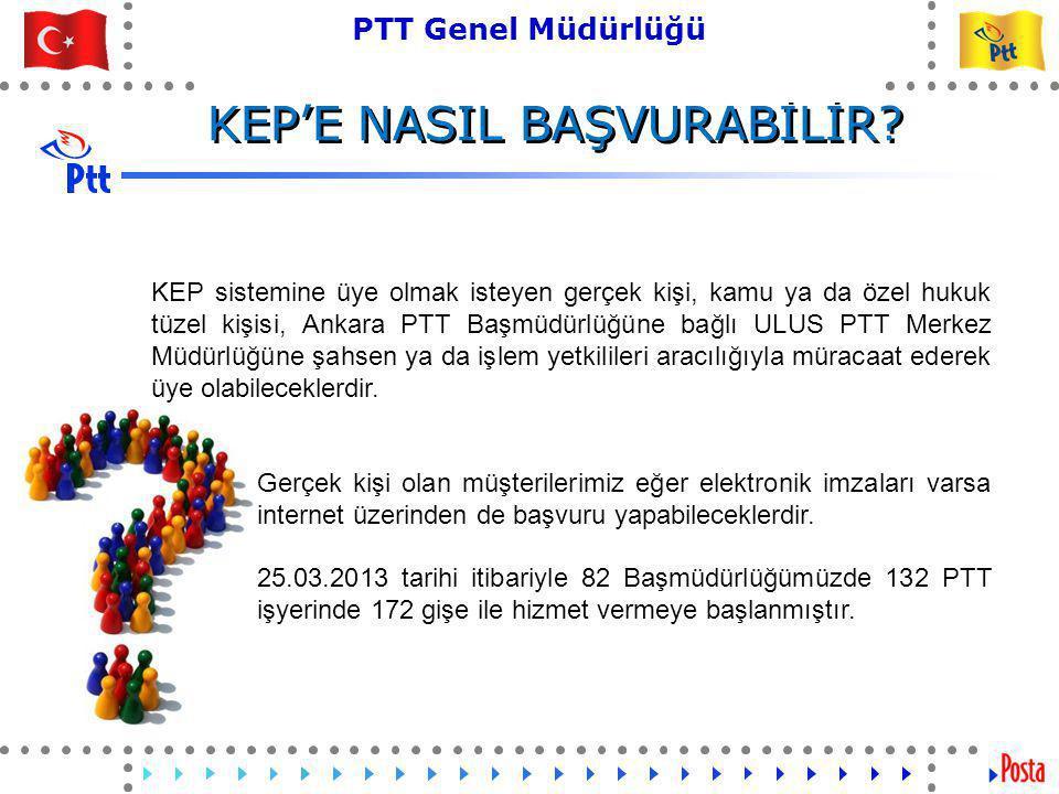 15 PTT Genel Müdürlüğü Teknik İşler ve Otomasyon Dairesi Başkanlığı KEP Hesabı Nasıl Başvurulur?