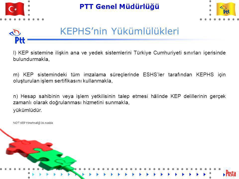 24 PTT Genel Müdürlüğü Teknik İşler ve Otomasyon Dairesi Başkanlığı Hesap Sahibinin Yükümlülükleri
