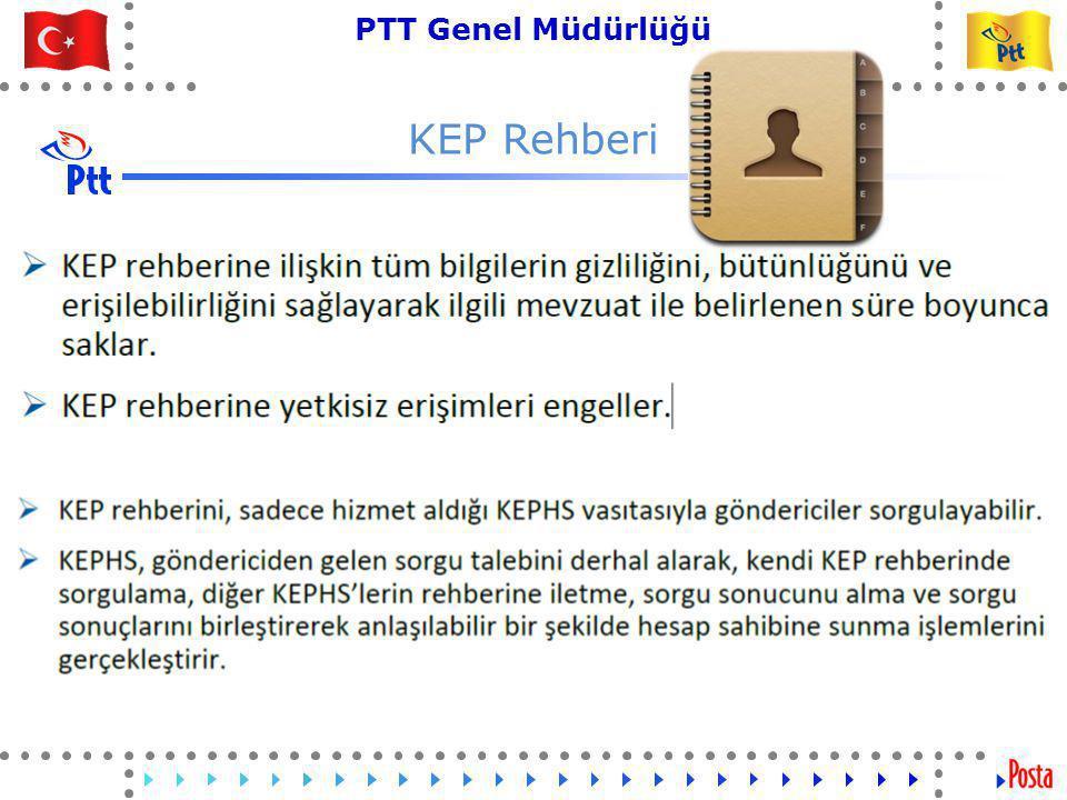 39 PTT Genel Müdürlüğü Teknik İşler ve Otomasyon Dairesi Başkanlığı KEP Rehberi