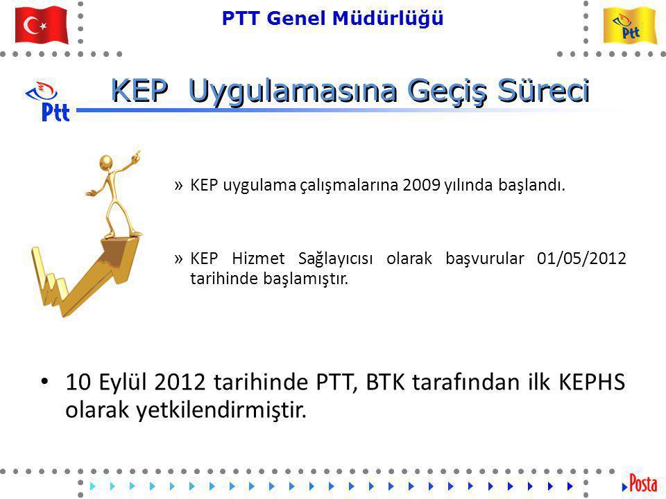 5 PTT Genel Müdürlüğü Teknik İşler ve Otomasyon Dairesi Başkanlığı KEP Uygulamasına Geçiş Süreci » KEP uygulama çalışmalarına 2009 yılında başlandı.
