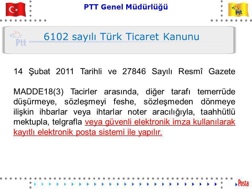 10 PTT Genel Müdürlüğü Teknik İşler ve Otomasyon Dairesi Başkanlığı 14 Şubat 2011 Tarihli ve 27846 Sayılı Resmî Gazete MADDE 1525- (1) Tarafların açıkça anlaşmaları ve 18 inci maddenin üçüncü fıkrası saklı kalmak şartıyla, ihbarlar, ihtarlar, itirazlar ve benzeri beyanlar; fatura, teyit mektubu, iştirak taahhütnamesi, toplantı çağrıları ve bu hüküm uyarınca yapılan elektronik gönderme ve elektronik saklama sözleşmesi, elektronik ortamda düzenlenebilir, yollanabilir, itiraza uğrayabilir ve kabul edilmişse hüküm ifade eder.