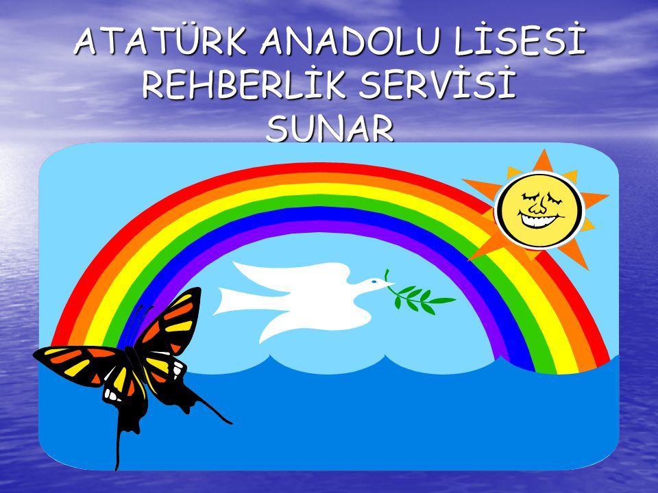 ATATÜRK ANADOLU LİSESİ REHBERLİK SERVİSİ SUNAR