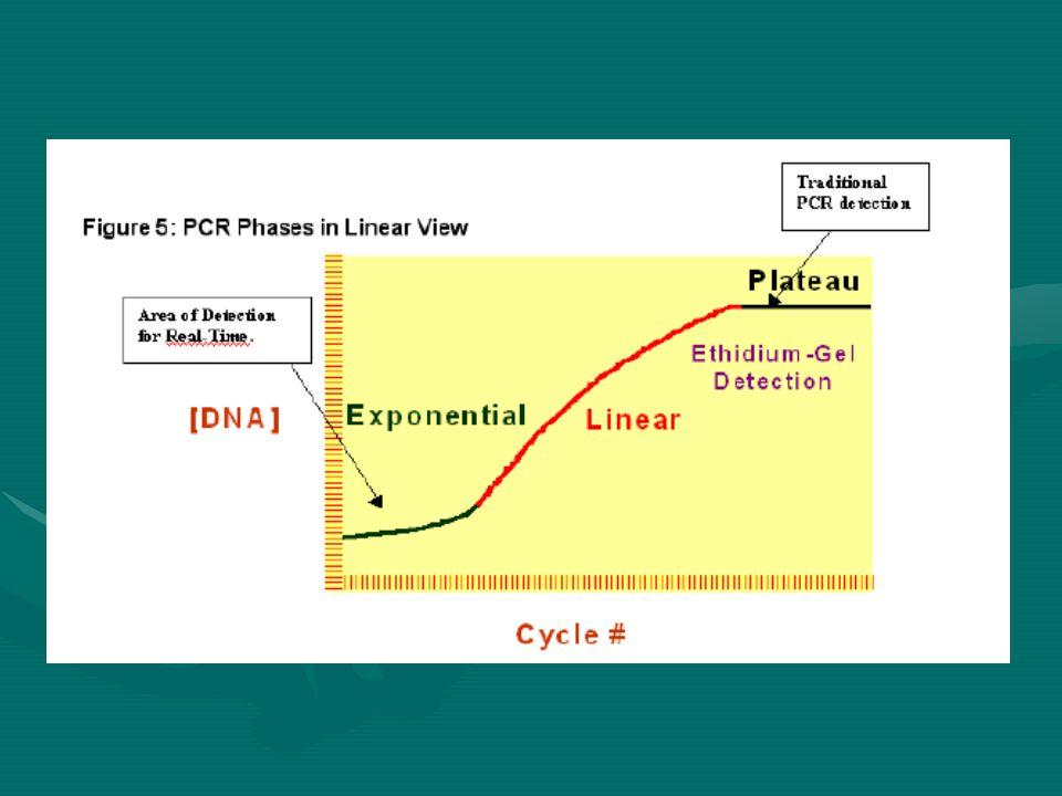 Linear Faz (yüksek farklılık)  Reaksiyonun kompanenetleri tükenmeye başlar  Reaksiyon yavaşlar  Oluşan PCR ürünleri değrade olmaya başlar