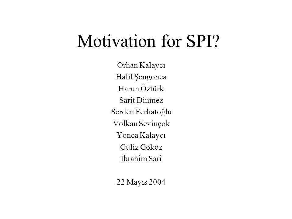 Motivation for SPI.