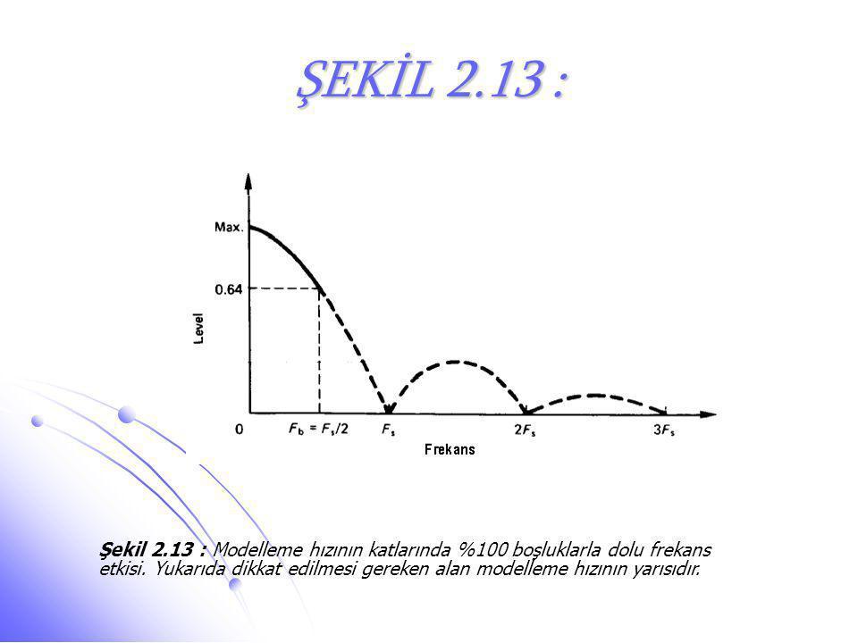 ŞEKİL 2.13 : Şekil 2.13 : Modelleme hızının katlarında %100 boşluklarla dolu frekans etkisi. Yukarıda dikkat edilmesi gereken alan modelleme hızının y