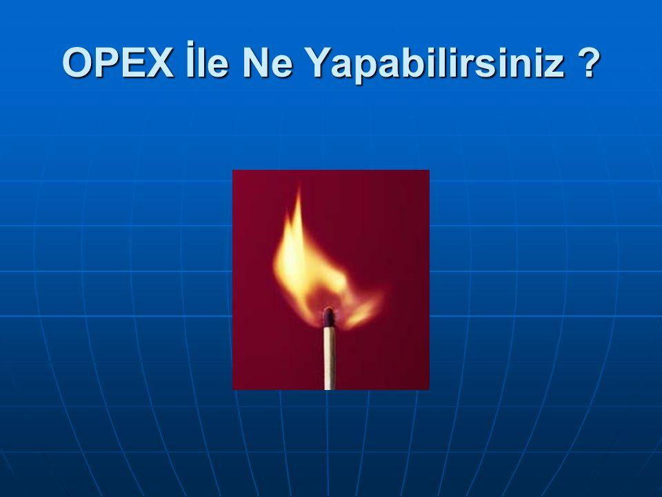 OPEX İle Ne Yapabilirsiniz ?