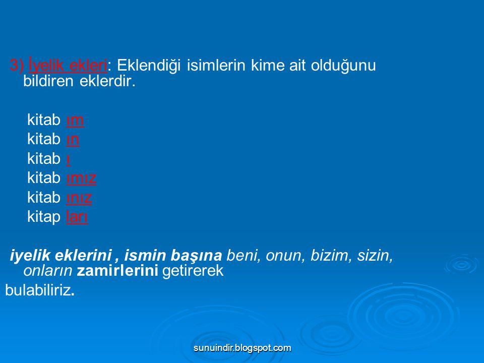 sunuindir.blogspot.com 2 İsimden Fiil Yapan Ekler (DEVAMI) : *ar: yaş-ar, mor-ar, sarı-ar *da: fısıl-da, horul-da, gürül-de *at: yön-et, göz-et *ık: geç-ik, bir-ik *ımsa: az-ımsa, benim-se, küçü(k)-mse