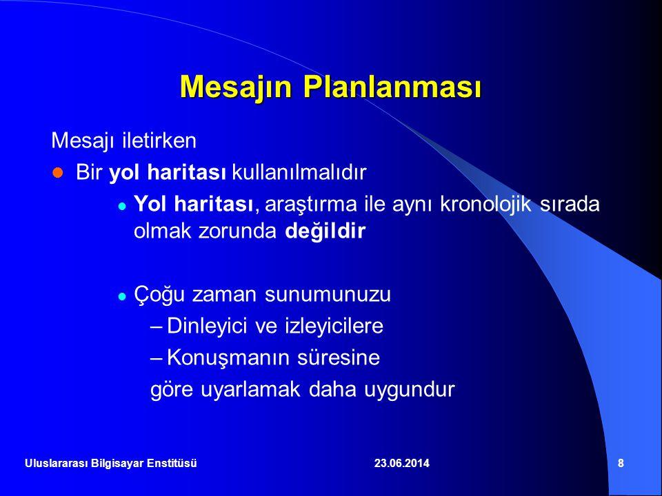 23.06.201419 İyi bir Grafik 2D Bisection Performance 1 2 3 4 5 6 0.20.40.60.81 Stimulus Scale Bisection SD (min) KM PB RL Uluslararası Bilgisayar Enstitüsü