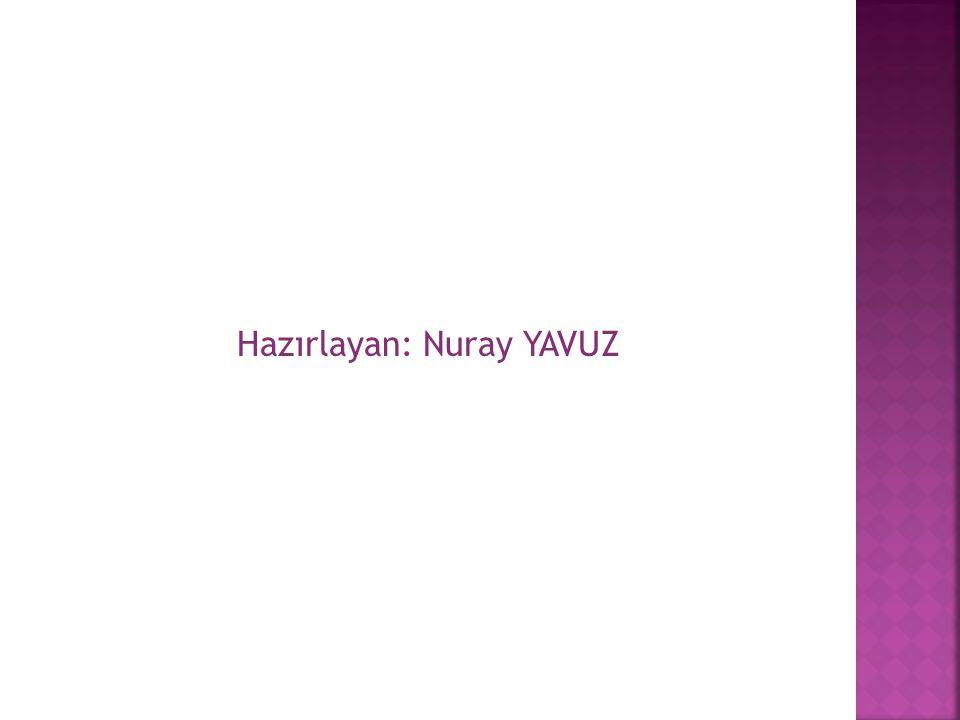 Hazırlayan: Nuray YAVUZ