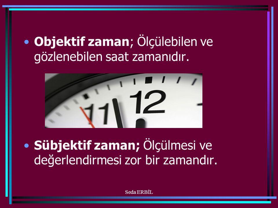 •Objektif zaman; Ölçülebilen ve gözlenebilen saat zamanıdır.