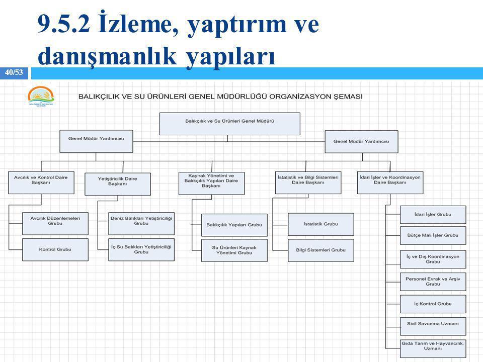 40/53 9.5.2 İzleme, yaptırım ve danışmanlık yapıları