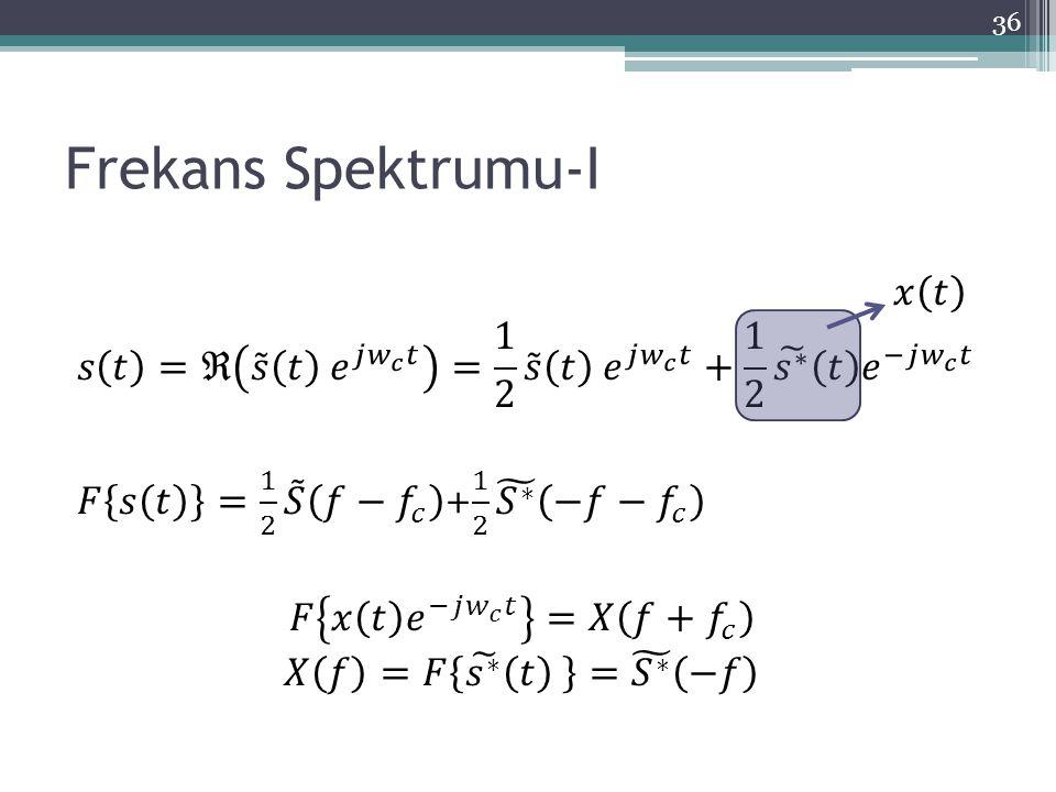 Frekans Spektrumu-I 36