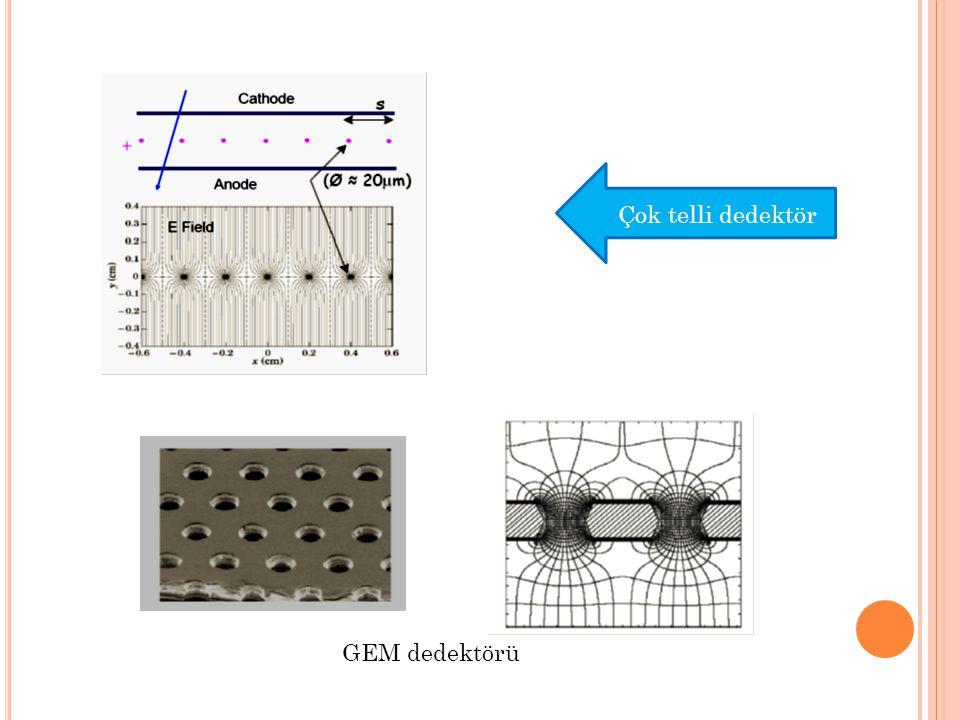 Si detektörlerin PCB lere kontaklanması Thin Silikon: 160x96 kanal, 300  m, 7x4cm, 3 adet Thick silikon: 64x64 kanal, 1.5mm, 4x4cm, 5 adet