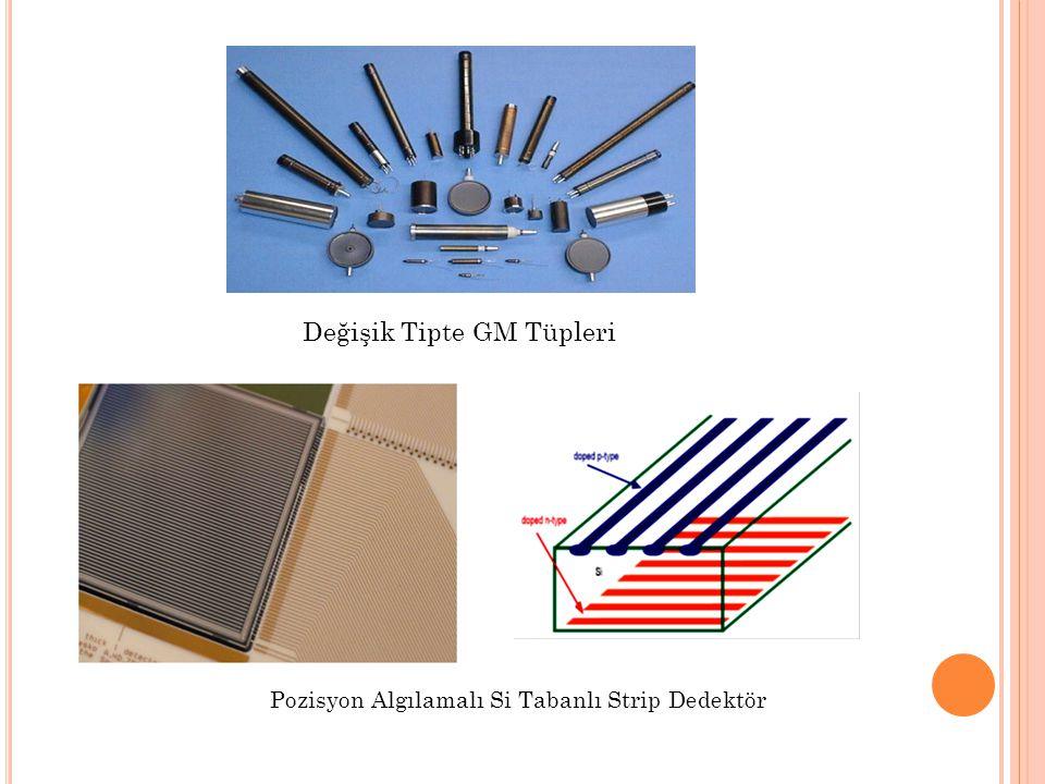 Değişik Tipte GM Tüpleri Pozisyon Algılamalı Si Tabanlı Strip Dedektör