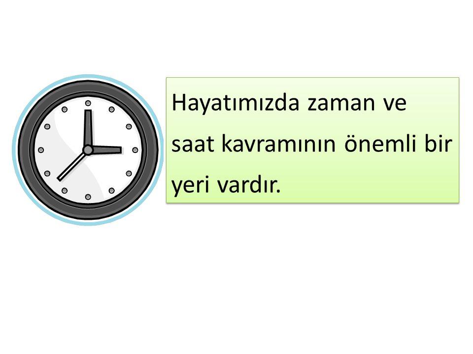 Hayatımızda zaman ve saat kavramının önemli bir yeri vardır.