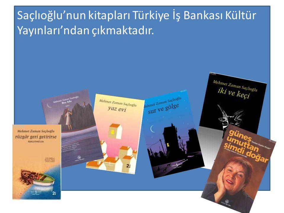 Saçlıoğlu'nun kitapları Türkiye İş Bankası Kültür Yayınları'ndan çıkmaktadır.
