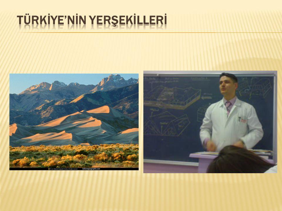  4.Dağlar genelde doğu-batı yönünde uzanır.