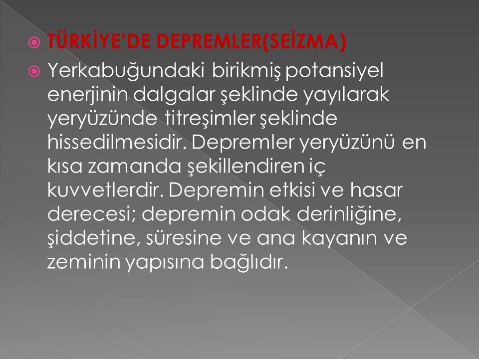  İ ç Anadolu'nun yükselmesi, Ergene havzası ve Çukurova'nın halen alçalması bu hareketlere örnek olarak verilebilir.  Türkiye'nin iç bölgelerinde fa