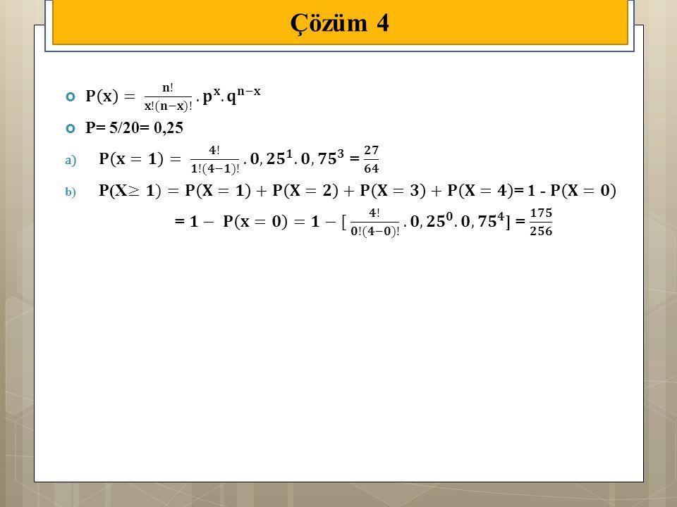 Çözüm 4