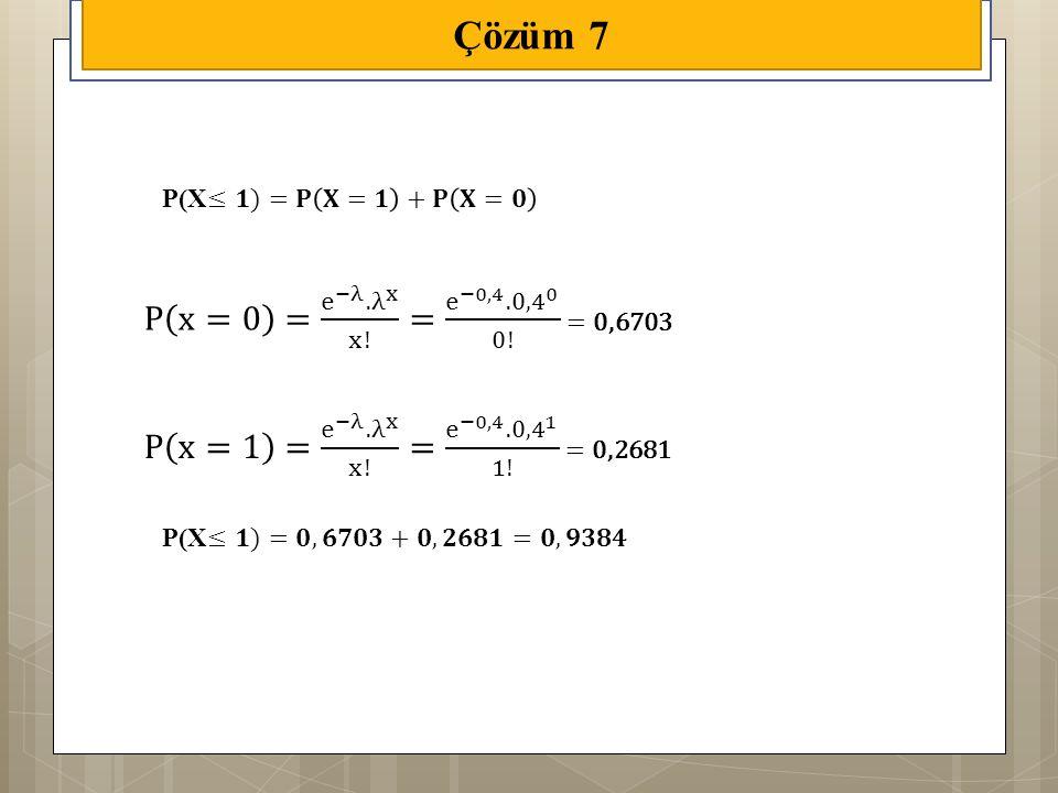 Çözüm 7