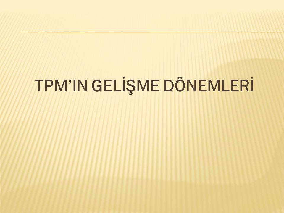 TPM'IN GELİŞME DÖNEMLERİ