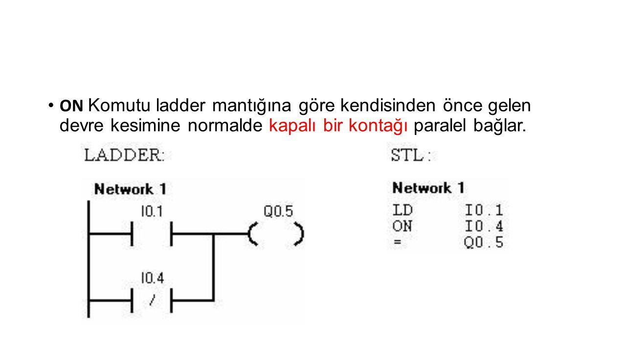 • ALD komutu; • Birden fazla komut bloğunu birbirine seri bağlamak için (VE işlemi) ALD komutu kullanılır.