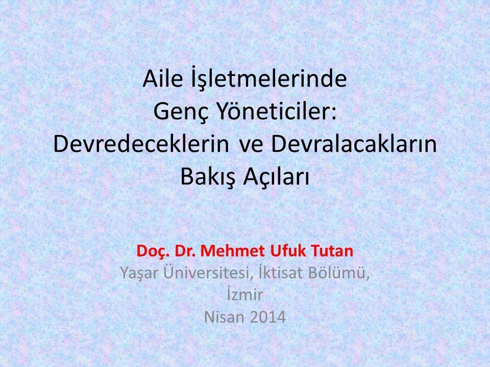 • İki Alan Çalışması: İzmir'de 2012-2013 Yılları • Odak Gruplar, Yüzyüze Görüşmeler ve Anketler • Ege Otomotivciler Derneği: Şirket Sahipleri ile • Çeşitli Sektörlerde İş Yapan Orta ve Büyük Ölçekli Aile Şirketleri: Genç Kuşak ile 2