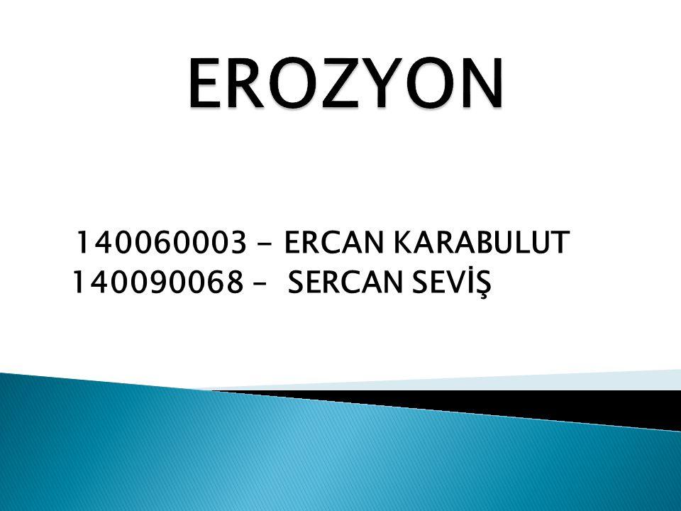 140060003 - ERCAN KARABULUT 140090068 – SERCAN SEVİŞ