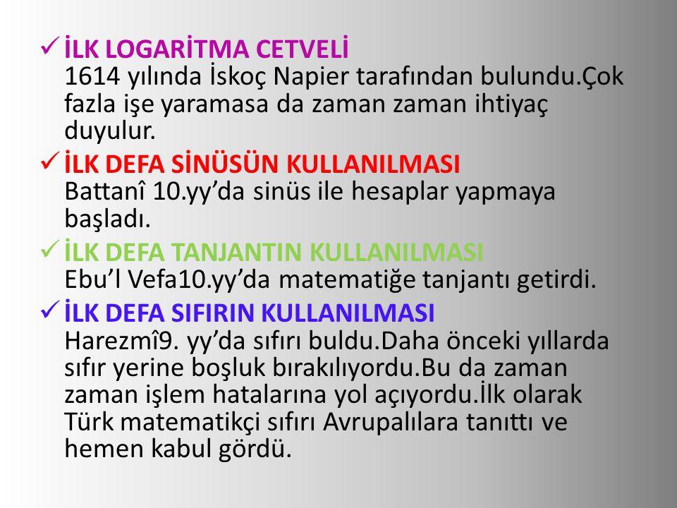  İLK DEFA ALGORİTMANIN KULLANILMASI Harezmî9.