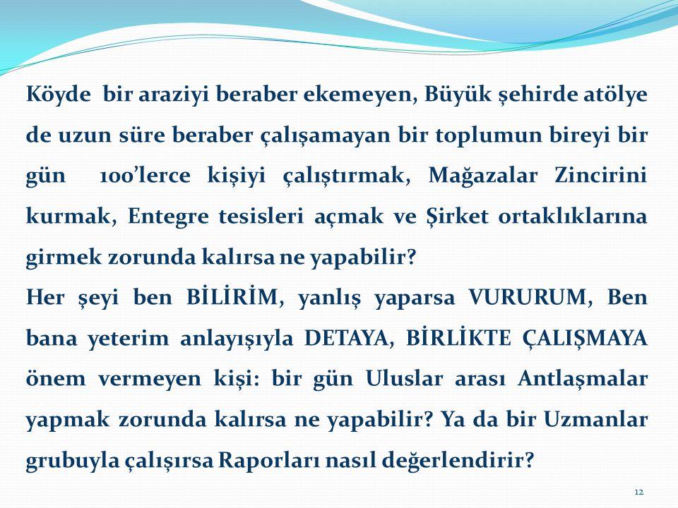 İŞ ANLAYIŞLARI NASIL GELİŞTİ.