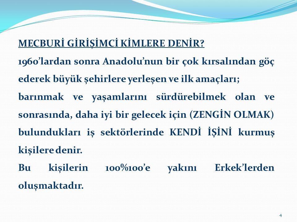 MECBURİ GİRİŞİMCİ KİMLERE DENİR.
