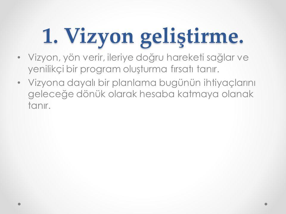 1.Vizyon geliştirme.