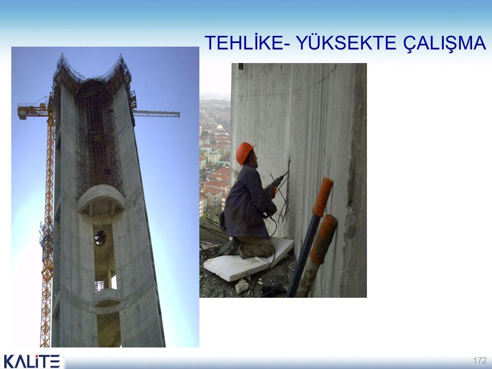 172 TEHLİKE- YÜKSEKTE ÇALIŞMA